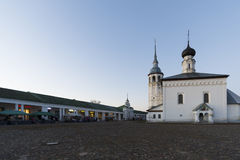 Russia, Suzdal - 06.11.2011. Trade area - the historic center of the city is part of  Golden Ring Travel Stock Images