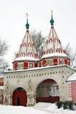 Russia. Suzdal. Winter. The Holy Gate, Rizopolozhensky Convent, Suzdal. Russia Stock Photo
