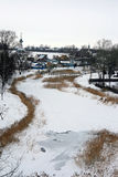Russia. Suzdal. Winter. The Golden Ring of Russia. Vie of Suzdal Stock Photos