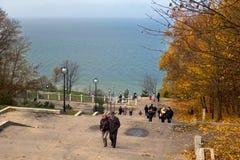 RUSSIA, SVETLOGORSK - SEPTEMBER 11, 2014: Autumn in Svetlogorsk. Stock Image