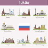 Russia. Symbols of cities Royalty Free Stock Photo