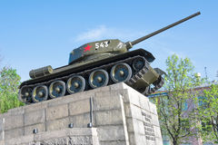 Russia. T34 tank - a monument to the heroes of the Royalty Free Stock Photography