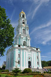 Russia Tallest Bell Tower Under Amazing Cirrus Clouds Stock Photography