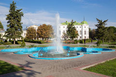Russia. Tambov. Fountain in city park Stock Photos