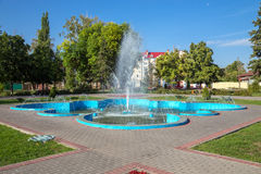 Russia. Tambov. Fountain in city park Stock Image