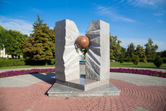 Russia. Tambov. Monument to victims of nuclear accidents Stock Photography