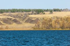 Russia Tatarstan Kama River Fall stock images