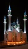 Russia. Tatarstan. Kazan. Kul Sharif mosque. Russia. Tatarstan. Kazan. Illuminated Kul Sharif mosque at night Royalty Free Stock Photography