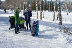 10,03,2016. Russia Tatarstan Naberezhnye Chelny. Mom Park with t Royalty Free Stock Image