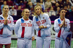 Russia team on tennis Fed Cup Stock Photo