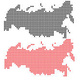 Russia tech map Royalty Free Stock Photo