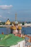 Russia. Temples of Nizhny Novgorod. Royalty Free Stock Photos