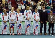 Russia tennis team Stock Image