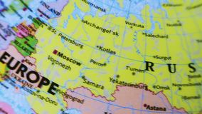 Russia. Terrestrial Globe 4K stock video footage