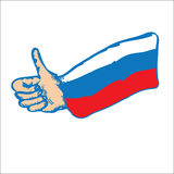 Russia Thumbs Up Royalty Free Stock Photography
