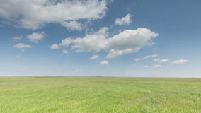 Russia, timelapse. The movement of clouds over the fields of winter wheat in early spring in the vast steppes of the Don. Russia, Rostov region, timelapse. The stock video