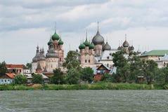 Russia. Town of Rostov the Great. Rostov Kremlin. Russia. Town of Rostov the Great. View on ensemble of Rostov Kremlin from Nero lake royalty free stock image