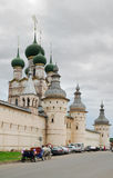Russia. Town of Rostov the Great. Rostov Kremlin. Russia. Town of Rostov the Great. View on Rostov Kremlin. The gateway Church of the Resurrection and the cart Stock Photo