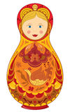 Russia traditional color cartoon toy. Russian doll national symbol Matryoshka vector eps 8 Stock Photo