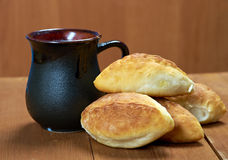 Russia traditions pierog.Home cake Royalty Free Stock Photo