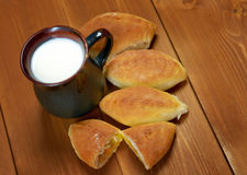 Russia traditions pierog.Home cake Royalty Free Stock Images