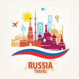 Russia travel background Stock Photo