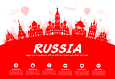 Russia Travel Landmarks. Royalty Free Stock Photo