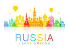 Russia Travel Landmarks. Royalty Free Stock Photography