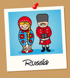 Russia travel polaroid people Stock Photo