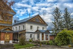 Tikhvin Bogorodichny Uspensky Monastery is an Orthodox women's m Stock Photo