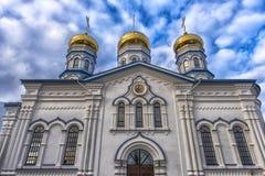 Tikhvin Bogorodichny Uspensky Monastery is an Orthodox women's m Stock Image