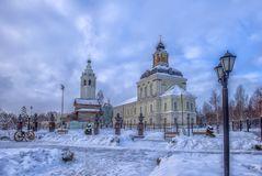 Nikolo-Zaretsky temple is an Orthodox church in Tula, the tomb of the Demidov family, a monument of history and culture of federal. Russia, Tula. 13,01,2019 stock image
