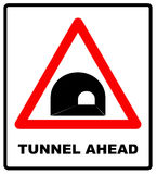 Russia Tunnel Ahead Sign Stock Photos