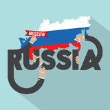 Russia Typography Design. Royalty Free Stock Photo