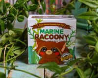 Eye patches with a raccoon on the package. Secret Key Racoony Hydro-Gel Eye & Multi Patch. stock images