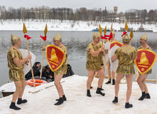 Russia, Uglich, February 07. The festival of Stock Photography