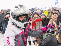 Russia, Uglich, February 07. The festival of Stock Image