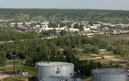 Russia , Ukhta, Komi Republic. 13 july 2006 Russia , Ukhta, Komi Republic,outskirts of town Royalty Free Stock Images