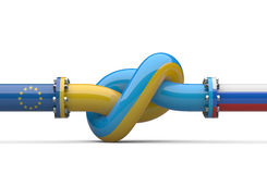 Russia - Ukraine - Europe  gas crisis concept. Pipeline tied in Royalty Free Stock Photos