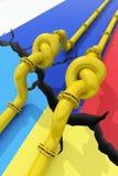 Russia-Ukraine gas crisis Stock Photos