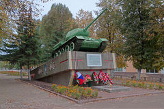 Russia. Unecha. T34-85 tank - a monument to the heroes of the Gr Royalty Free Stock Photography