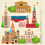 Russia vector banner. Russian poster. Travel to Russia Royalty Free Stock Image
