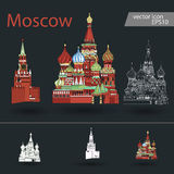 Russia. Vector. Silhouette. Icon. Russia. Vector Silhouette Icon Sign Set Royalty Free Stock Photography