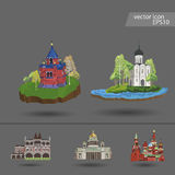 Russia. Vector. Silhouette. Icon. Russia. Vector Silhouette Icon Sign Set royalty free illustration