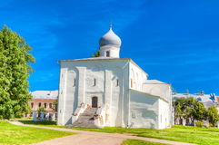 Russia Veliky Novgorod Church assumption  Bargaining. Russia Veliky Novgorod Church of the assumption on the Bargaining landmark Royalty Free Stock Image