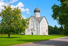 Russia. Veliky Novgorod. The Church of the Transfiguration of the Savior Stock Images