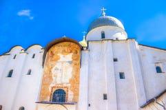 Russia Veliky Novgorod  Kremlin St. Sophia Cathedral Stock Photo