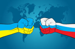 Russia versus Ukraine. Russia-Ukraine relations. Vector illustration Stock Images