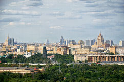 Russia. View of Moscow from Vorobyovy Hills in Moscow. 20 June 2016. Stock Photos