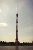Russia. View of the Ostankino television tower in Moscow. Stock Image
